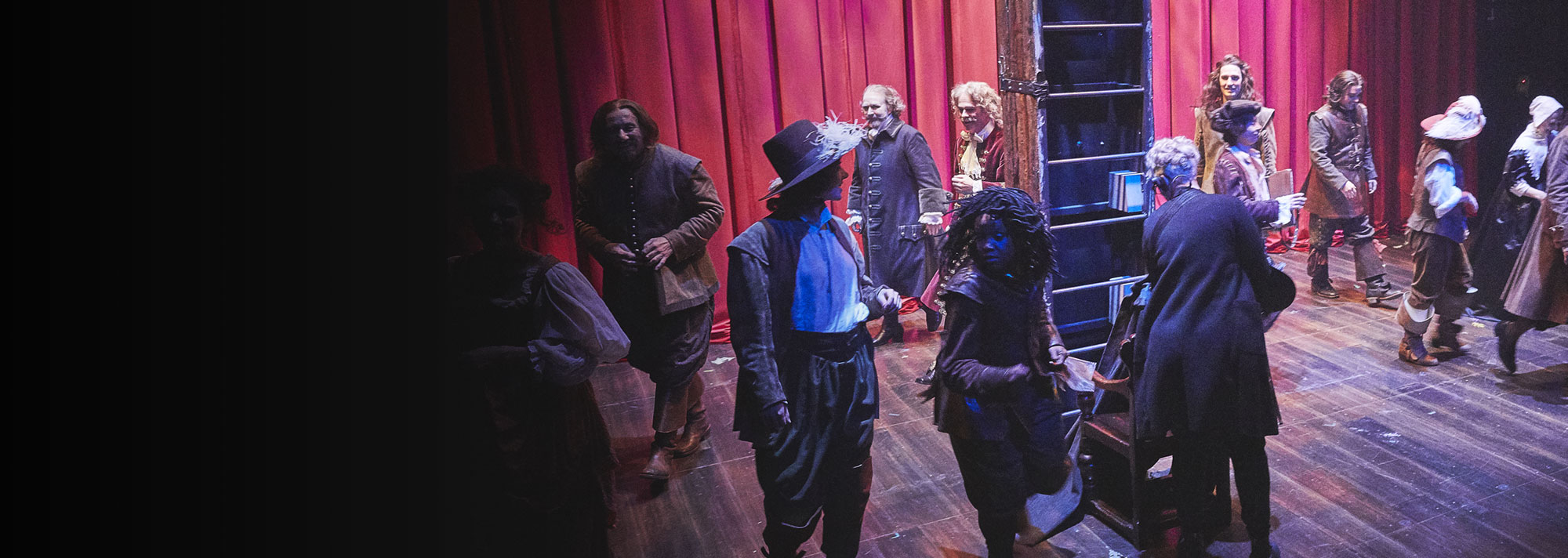 Cast of Cyrano de Bergerac (2019). Photo by Peter Andrew Lusztyk.