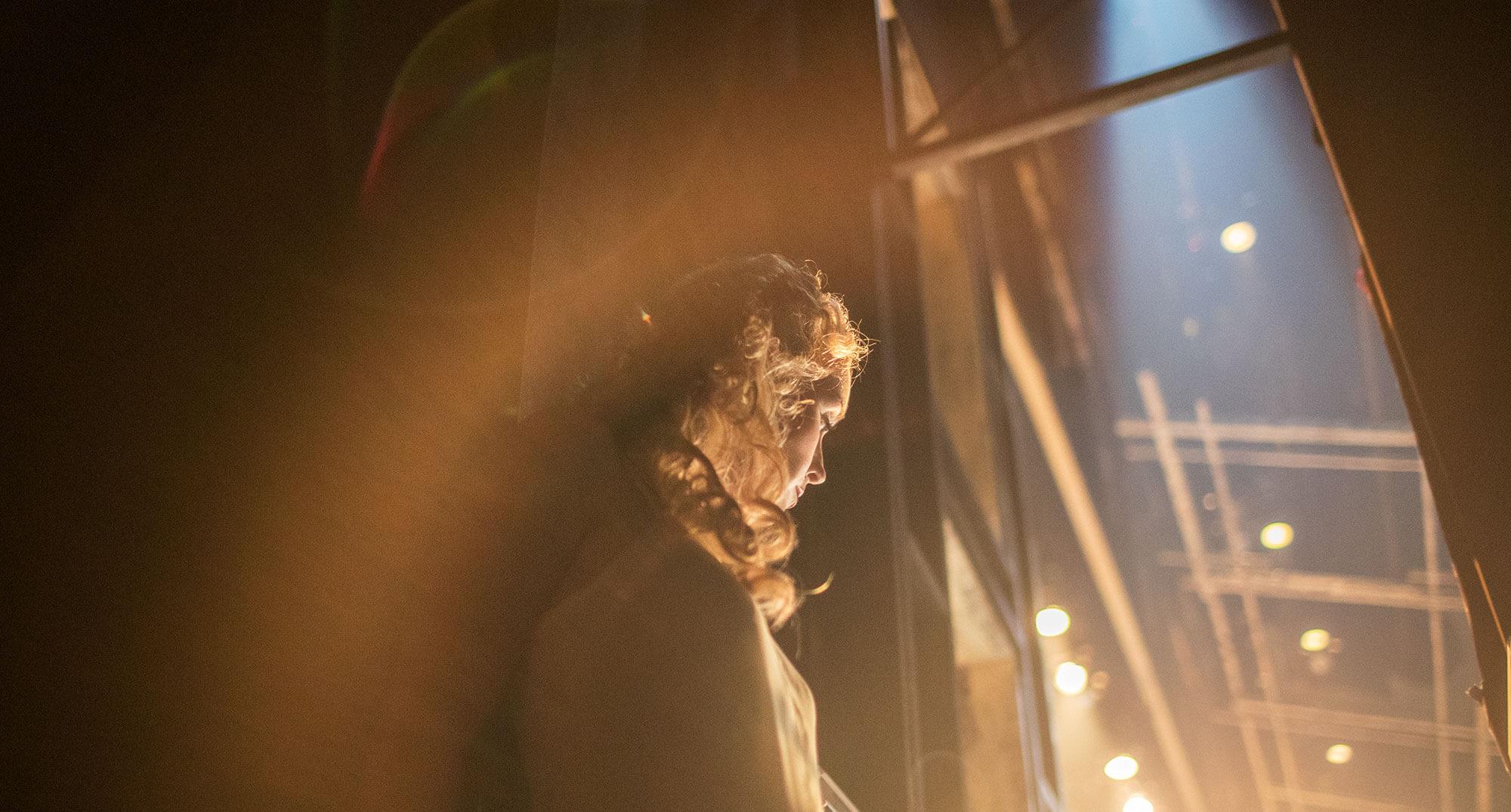 Kristi Frank backstage